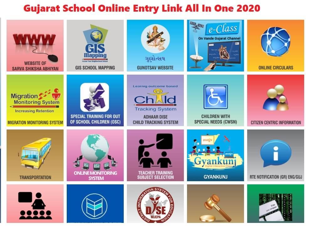 Gujarat School Online Entry Link All In One