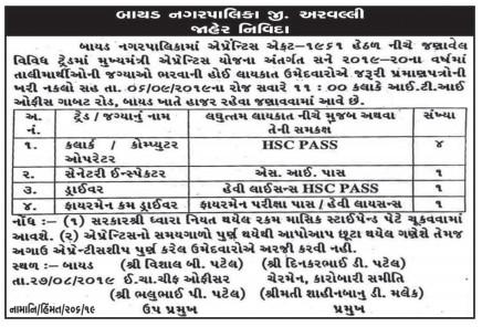 Bayad Nagarpalika Recruitment