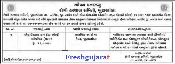 Narmada Accountant Cum Data Entry Operator Jobs