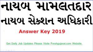 Nayab Mamlatdar Official Answer Key