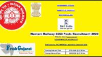 Western Railway 3553 Posts Recruitment 2020