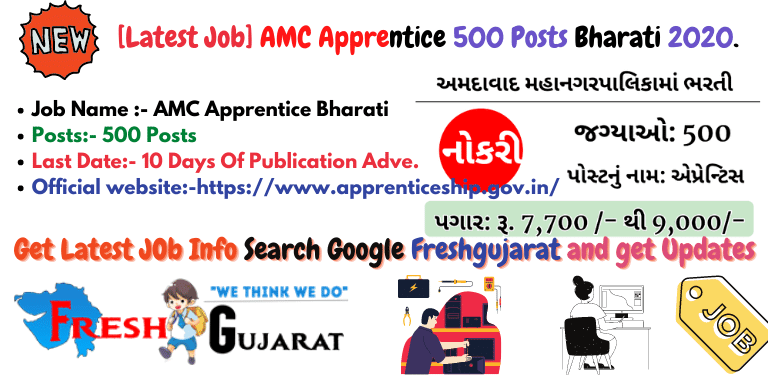 AMC Apprentice 500 Posts Bharati