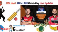 SRH vs RCB Match Day Live