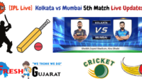 Kolkata vs Mumbai 5th Match Live