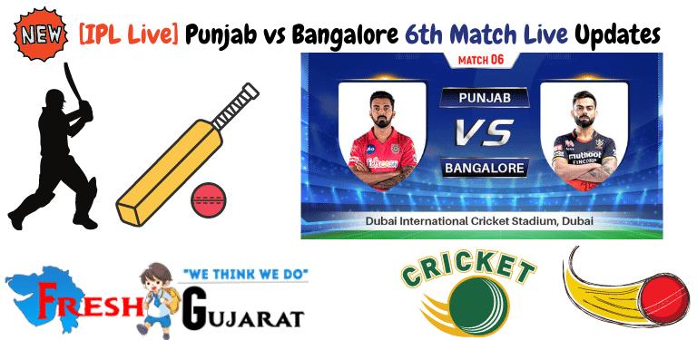 Punjab vs Bangalore 6th Match Live