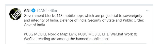118 PUBG And Chinese bans apps List