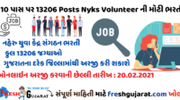 13206 Posts Nyks Volunteer Recruitment 2021