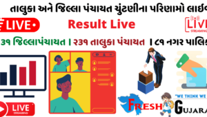 ujarat Taluka Jilla Panchayat election 2021 Result